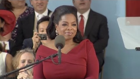 Thumbnail for entry Oprah Winfrey Harvard Commencement speech   Harvard Commencement 2013