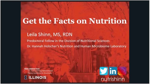 Thumbnail for entry Wellness Webinar Series: Get the Facts on Nutrition