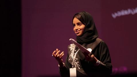 Thumbnail for entry الأحلام تستحق المخاطرة | آمال إبراهيم | TEDxAlhamraaLive