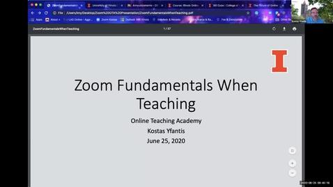 Thumbnail for entry OTA: Zoom Fundamentals when Teaching