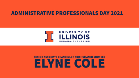 Thumbnail for entry Administrative Professionals Day Message from Senior Associate Chancellor Elyne Cole