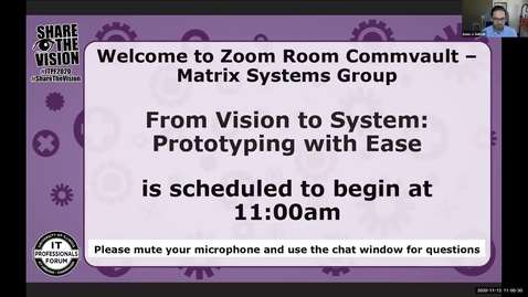 Thumbnail for entry From Vision to System: Prototyping with Ease - Fall 2020 IT Pro Forum