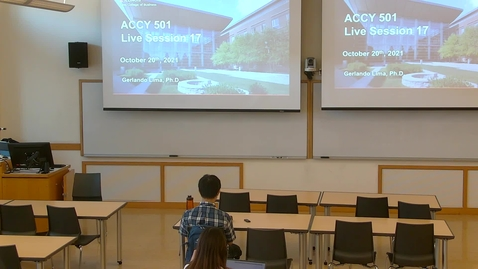 Thumbnail for entry Accounting Analysis I (ACCY 501 MSF) Fall 2021