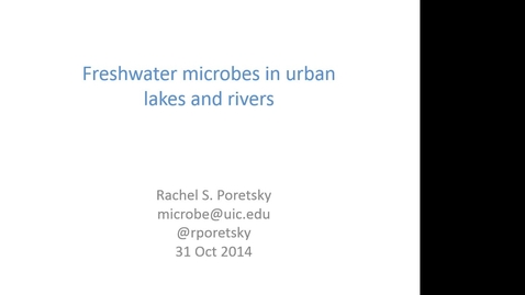 Thumbnail for entry NRES 2014 Fall Seminar Series 141031 - Rachel S Poretsky