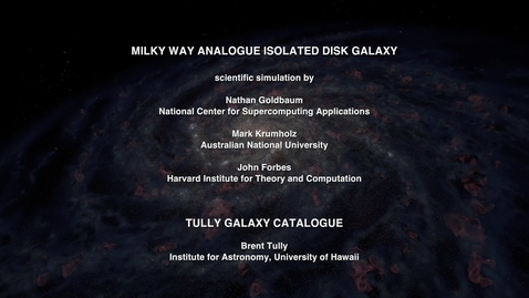 Thumbnail for entry Milky Way Analogue Isolated Disk Galaxy