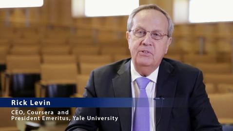 Thumbnail for entry Interview with Rick Levin, CEO of Coursera