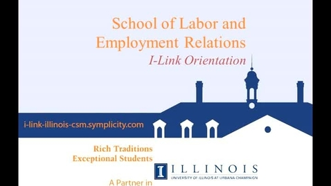 Thumbnail for entry I-Link Orientation, Unit 1