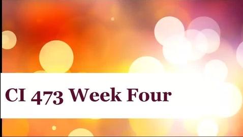 Thumbnail for entry CI 473 EST Week 4