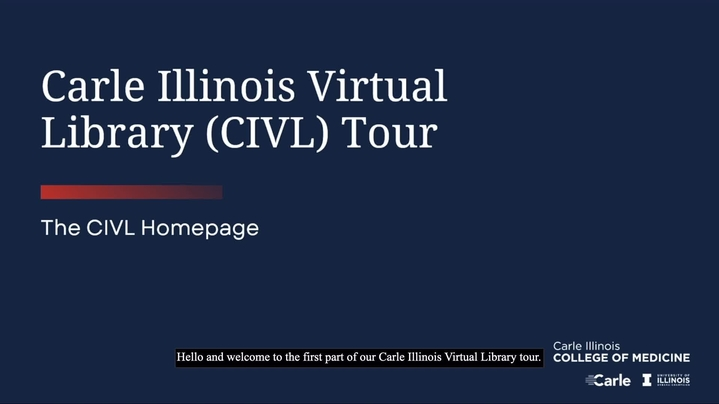 Thumbnail for channel Carle Illinois Virtual Library (CIVL)