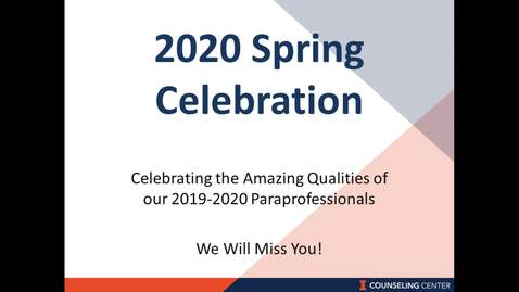 Thumbnail for entry 2020 Spring Celebration - Celebrating Amazing Qualities