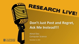 Thumbnail for entry Research Live - Himel Dev