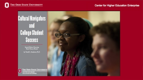 """Thumbnail for entry Terrell Strayhorn - """"Cultural Navigators and College Student Success"""""""