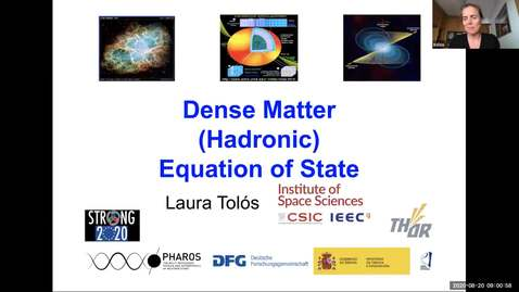 Thumbnail for entry Workshop: Heavy-ions to Neutron Stars: Laura Tolos