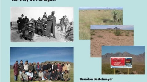 Thumbnail for entry NRES 2016 Seminar Series - Brandon Bestelmeyer - October 21, 2016