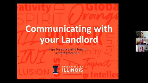 Thumbnail for entry Communicating With Your Landlord Webinar