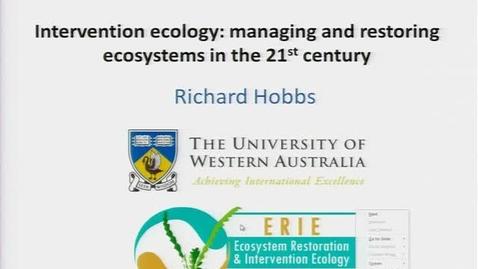 Thumbnail for entry NRES 2011 Fall Seminar Series - Richard Hobbs