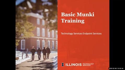 Thumbnail for entry Basic Munki Training