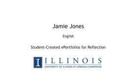 Thumbnail for entry Student-Created ePortfolios for Reflection