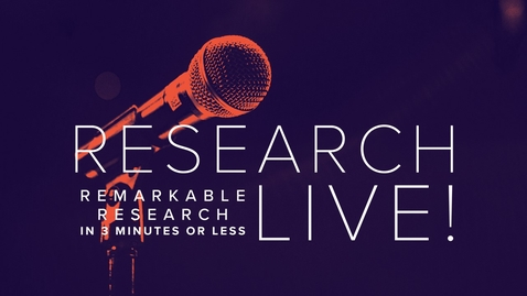 Thumbnail for entry Research-Live! Enter today.