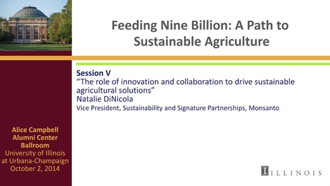 Thumbnail for entry Day 3 - Session V - The role of innovation and collaboration to drive sustainable agricultural solutions