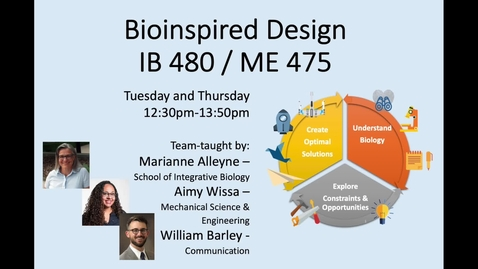 Thumbnail for entry IB 480 / ME 475 Bioinspired Design Fall 2021 Promo Video