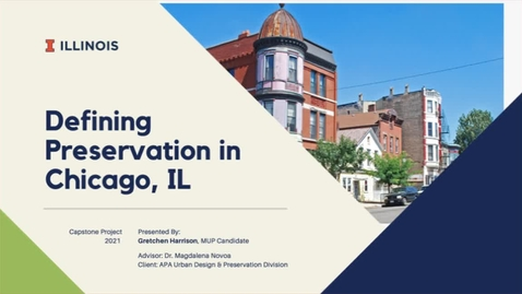 Thumbnail for entry Defining Preservation in Chicago, IL