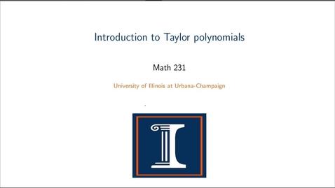 Thumbnail for entry Taylor Polynomials