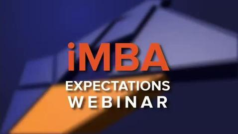 Thumbnail for entry iMBA Expectations Webinar, 12 April 2016