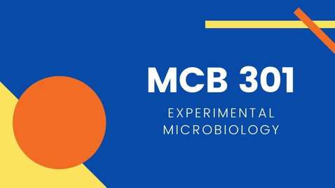 Thumbnail for entry MCB 301: Experimental Microbiology