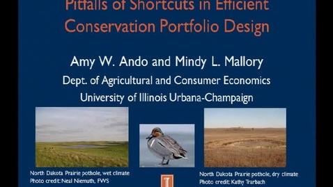 Thumbnail for entry NRES 2012 Fall Seminar Series - Amy W. Ando