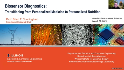 Thumbnail for entry 3.31.2021 - Brian Cunningham, PhD - NUTR 500 Seminar - Frontiers in Nutritional Sciences