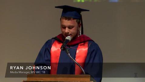 Thumbnail for entry More from Ryan Johnson at SBC October Graduation