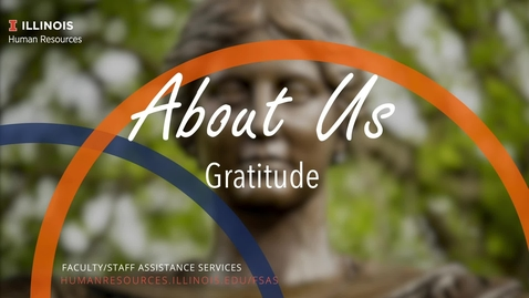 Thumbnail for entry About Us: Gratitude