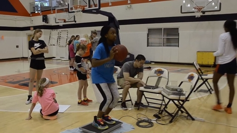 Thumbnail for entry Inspiring Young Engineers at Girl's Basketball Camp