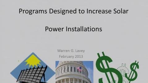 Thumbnail for entry NRES 2013 Spring Seminar Series - Warren G. Lavey