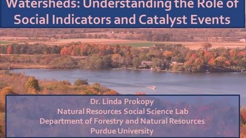 Thumbnail for entry NRES 2012 Spring Seminar Series - Dr. Linda Prokopy
