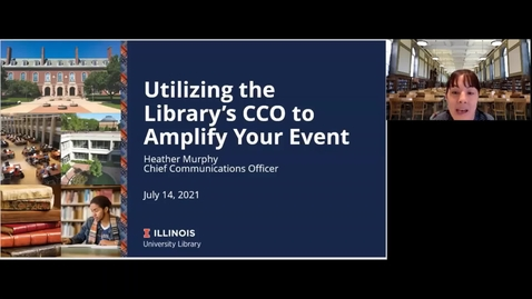 Thumbnail for entry Skill Up Session: Utilizing the Library's CCO to Amplify your Event