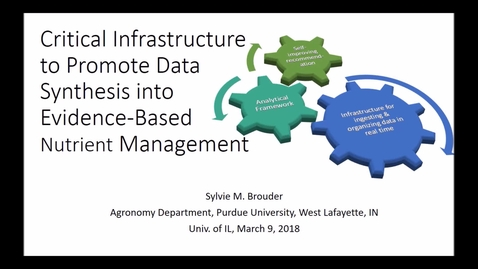 Thumbnail for entry NRES 500 Spring 2018 - Brouder - Critical infrastructure to promote data synthesis into evidence-based nutrient management