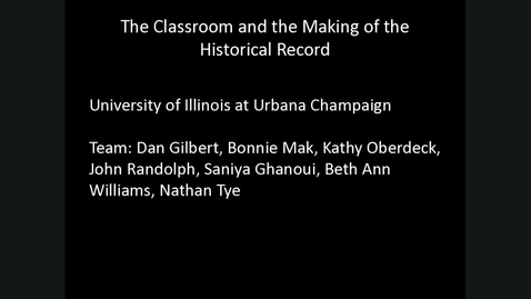 CFHR Workshop (May 2018): UIUC SourceLab and Public History (Part 2)