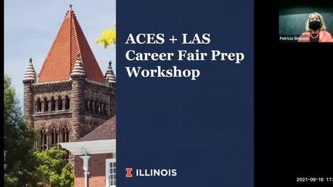 Thumbnail for entry ACES + LAS Career Fair Prep Workshop
