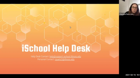 Thumbnail for entry iSchool Help Desk Overview