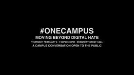Thumbnail for entry #ONECAMPUS Moving Beyond Digital Hate