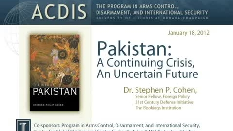 Thumbnail for entry Pakistan: A Continuing Crisis, An Uncertain Future