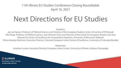 Thumbnail for entry Next Directions for EU Studies
