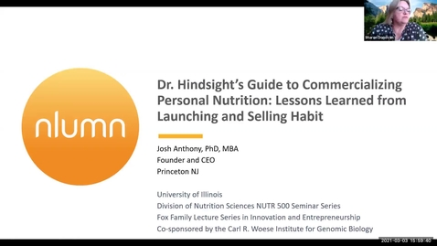 Thumbnail for entry 3.3.2021 - Joshua C Anthony PhD, MBA - NUTR 500 Seminar - Frontiers in Nutritional Sciences