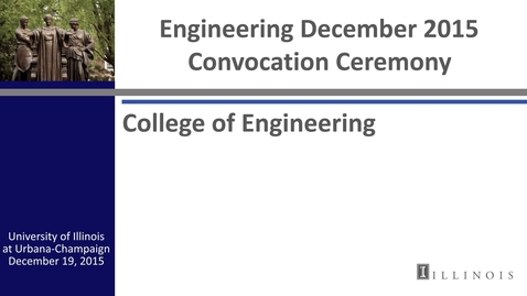 Thumbnail for entry Engineering December 2015 Convocation Ceremony