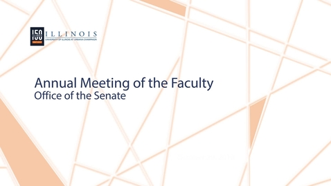 Thumbnail for entry 2018 Annual Meeting of the Faculty