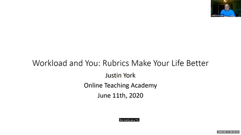 Thumbnail for entry OTA: Grading rubrics, online student and faculty workloads