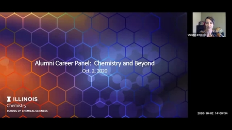 Thumbnail for entry Alumni Career Panel: Chemistry and Beyond, Oct. 2, 2020