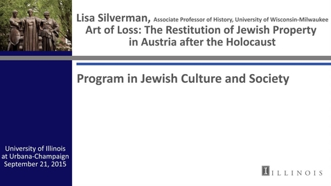 Thumbnail for entry Art Of Loss: The Restitution of Jewish Property in Austria after the Holocaust